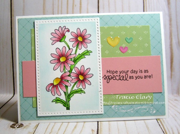 Hope your day is special by Tracie features Dainty Daisies by Newton's Nook Designs; #newtonsnook, #inkypaws, #cardmaking