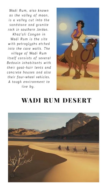 Visuals of camel safaris in the movie, as Jafar walked through the Wadi Rum desert will make your day. doibedouin