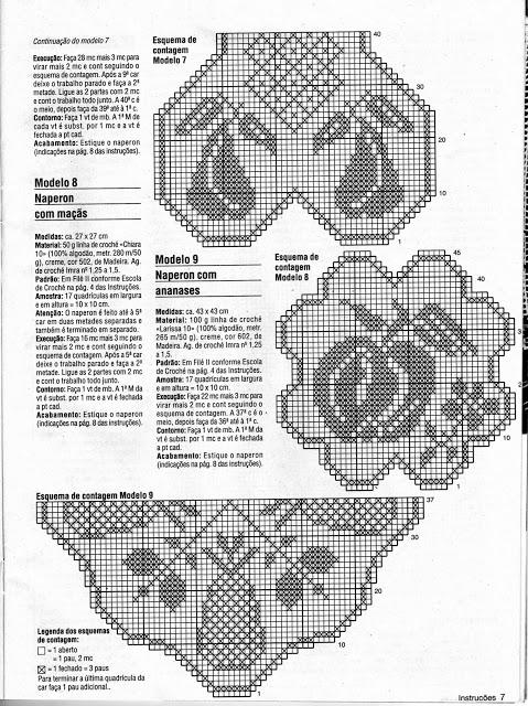diagrammes napperon poire
