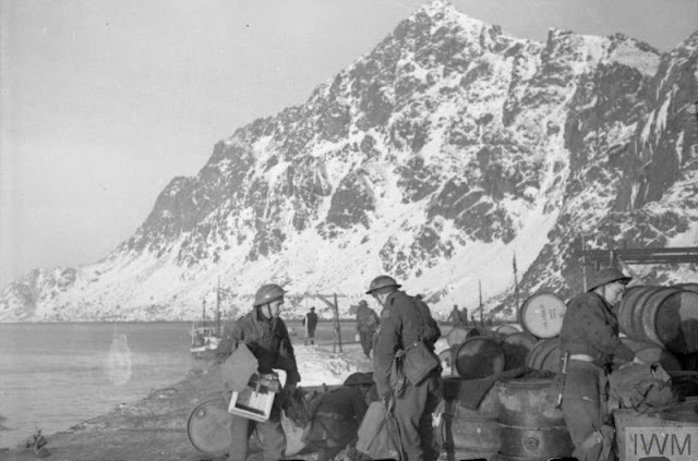 4 March 1941 worldwartwo.filminspector.com Lofoten Islands Operation Claymore blowing up barrels