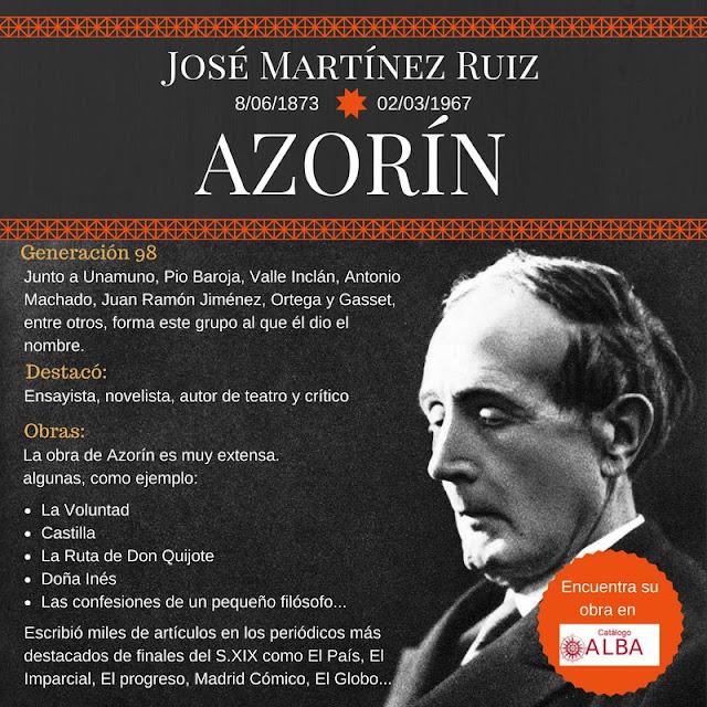 José Martínez Ruiz. Hoy es el 50 aniversario de la muerte de Azorín.