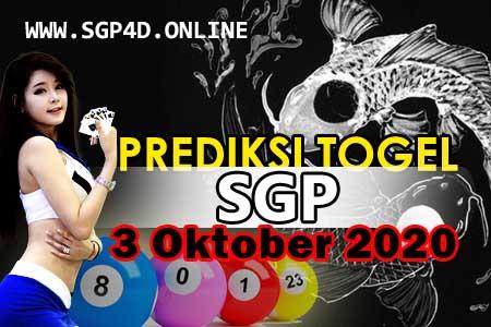 Prediksi Togel SGP 3 Oktober 2020