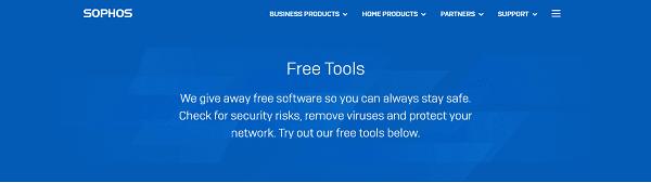 برنامج مكافحة الفيروسات Sophos
