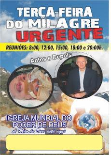 folheto,antes,depois,terça-feira,milagre,urgente,impd,igreja,mundial,poder,deus