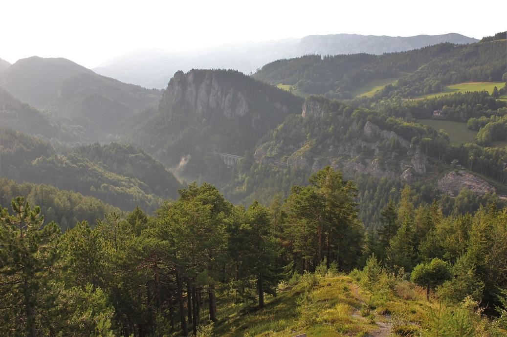 Nejkrásnější vyhlídka 20 Schilling Blick na rakouský Semmering