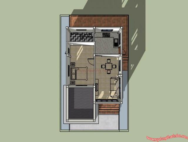 Mẫu thiết kế nhà cấp 4 trệt mái thái 3 phòng ngủ