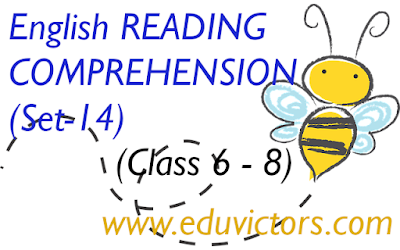 CBSE Class 6,7,8 - English - Reading Comprehension (Set-14)(#readingcomprehension)(#eduvictors)