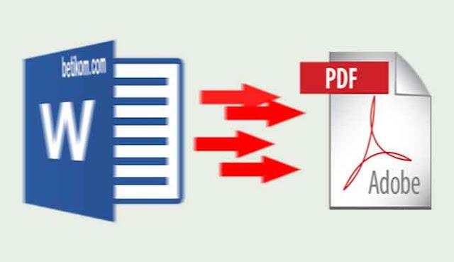 Cara Mengubah Word ke Pdf gratis