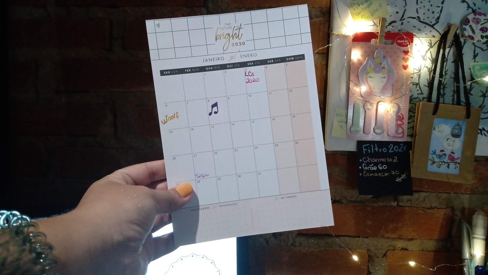 Calendário Planner