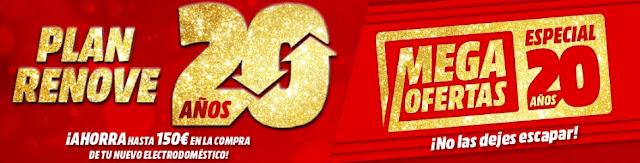 Mejores Mega Ofertas, Especial 20 años (II) folleto Media Markt