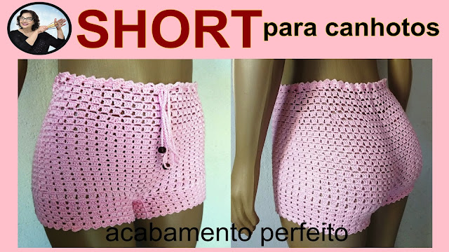 Short de Crochê Passo a Passo do Jeito Certo para Canhotos Curso Edinir Croche Aprender Croche
