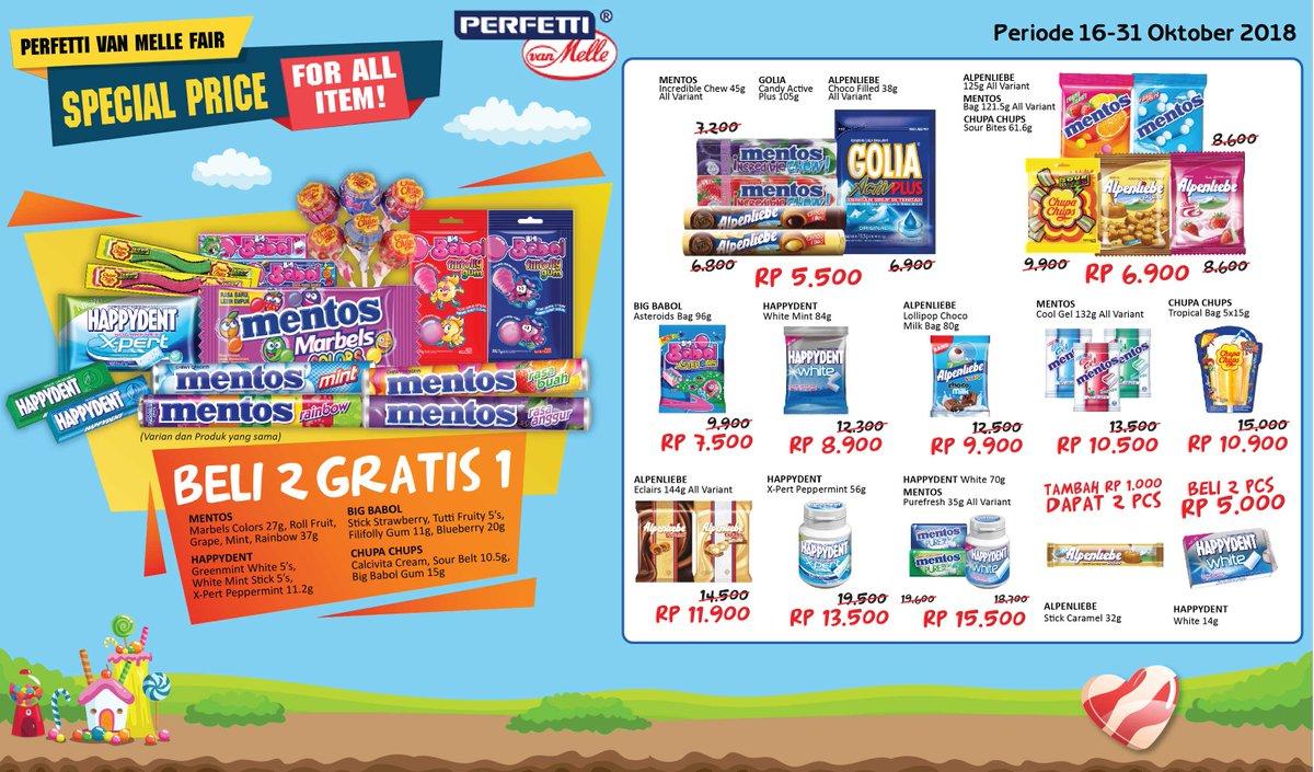 Alfamidi - Promo Perfetti Van Melle Fair Spesial Price + Beli 2 Gratis 1 (s.d 31 Okt 2018)