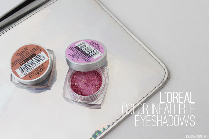 L'OREAL // Color Infallible Eye Shadows in Pepsy Coral + Naughty Strawberry - cassandramyee