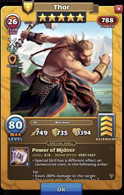 Thor Empires & Puzzles Valhalla Hero