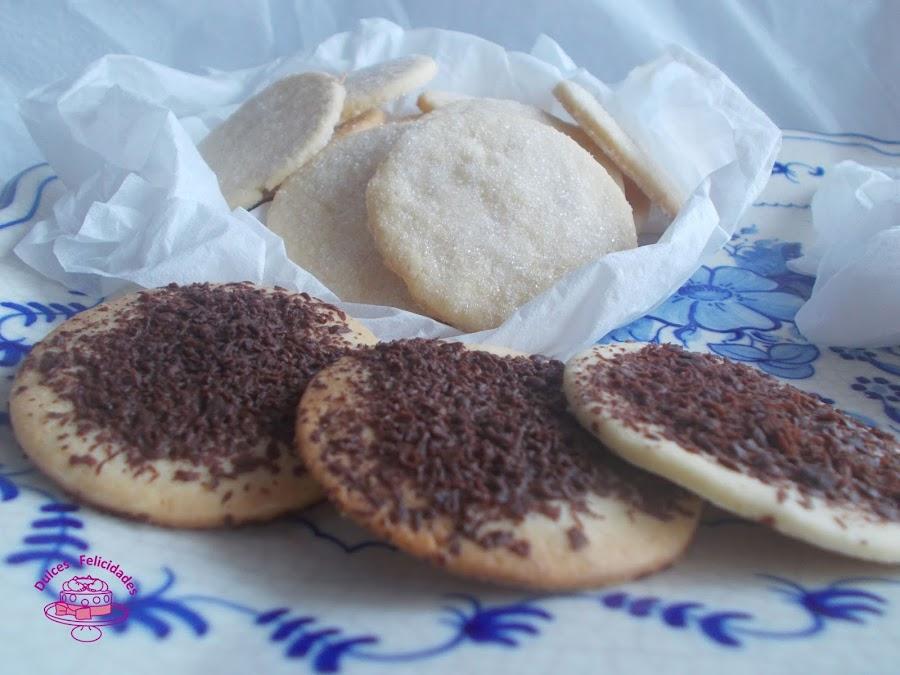 4. Galletas de mantequilla crujientes con chocolate