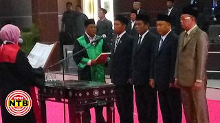 Pelantikan Ketua dan Wakil Ketua DPRD Lotim Berlangsung Khidmat