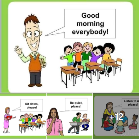 الجمل المستعملة في القسم باللغة الإنجليزية