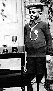 A.S.Davis with Boys Brigade cups