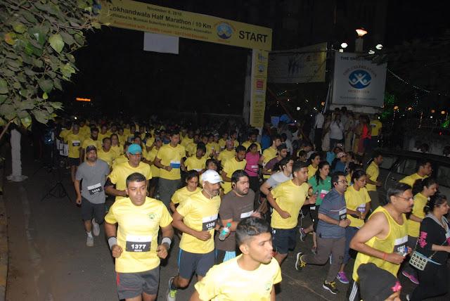 Participant Running at Lokhandwala Half Marathon 10KM