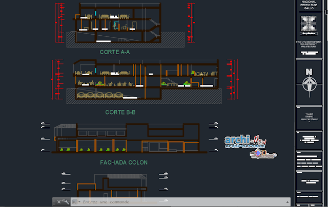 Townhouse-restaurant in AutoCAD