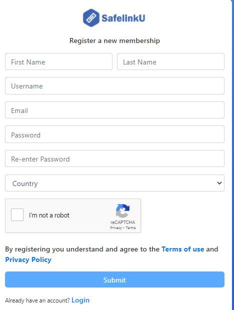 Form Pendaftaran Safelinku