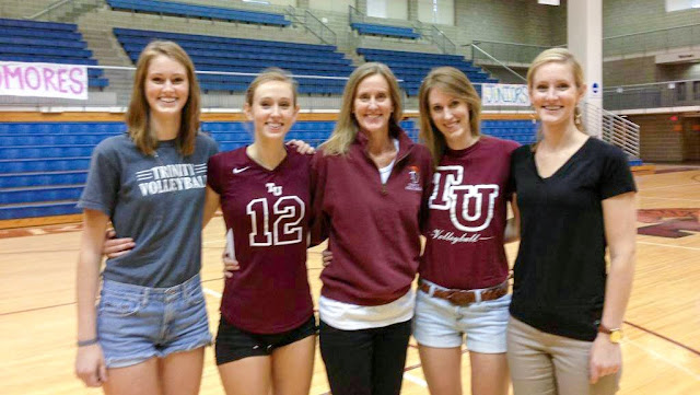 Hazelwood volleyball family at Trinity University