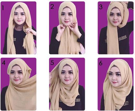 Cara Pakai Hijab Segi empat Praktis dan Mudah