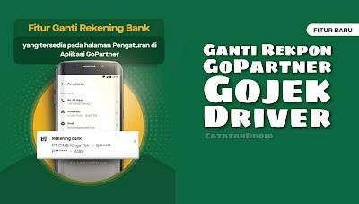 Cara Praktis Ganti Rekpon GoPartner Gojek Driver