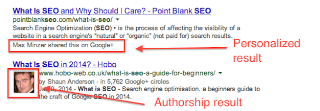 Google Search Authorship