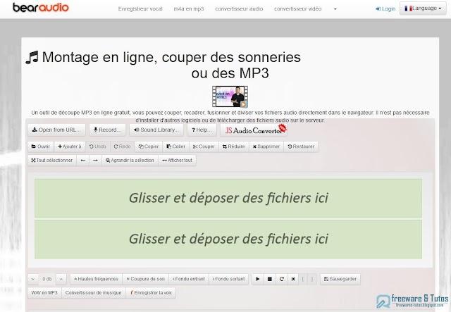 Bear Audio Tool : un éditeur audio gratuit en ligne pour couper, fusionner, modifier vos fichiers audio