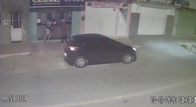 Vídeo: Loja é furtada na madrugada desta quarta 02/07, no sertão paraibano e câmeras registam toda a ação