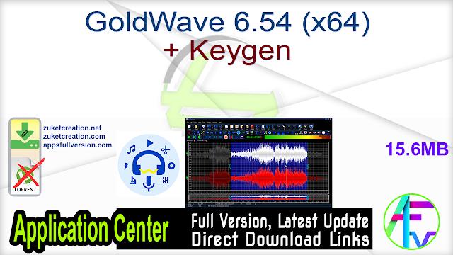 GoldWave 6.54 (x64) + Keygen