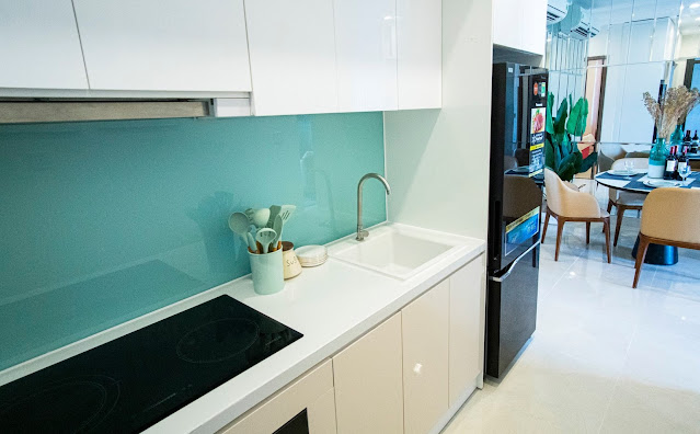 Không gian phòng bếp tại Ecolife Riveside Quy Nhơn