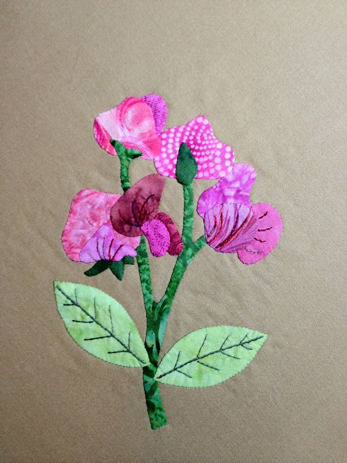 sweet pea embroidery # 55