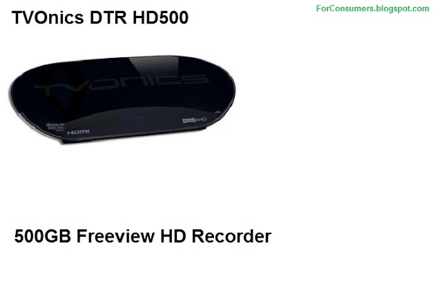 TVOnics DTR HD500 500GB Freeview HD Recorder features and specs