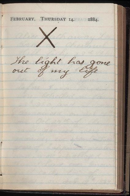 Diario de Roosevelt el día que su mujer y su madre fallecieron