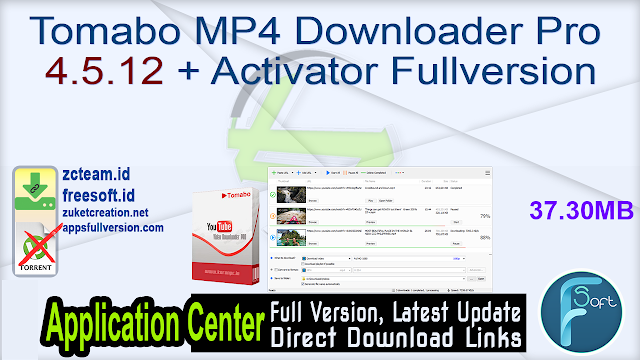 Tomabo MP4 Downloader Pro 4.5.12 + Activator Fullversion