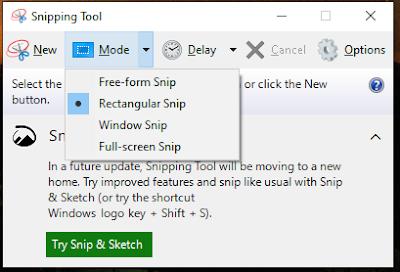 screenshot layar leptop