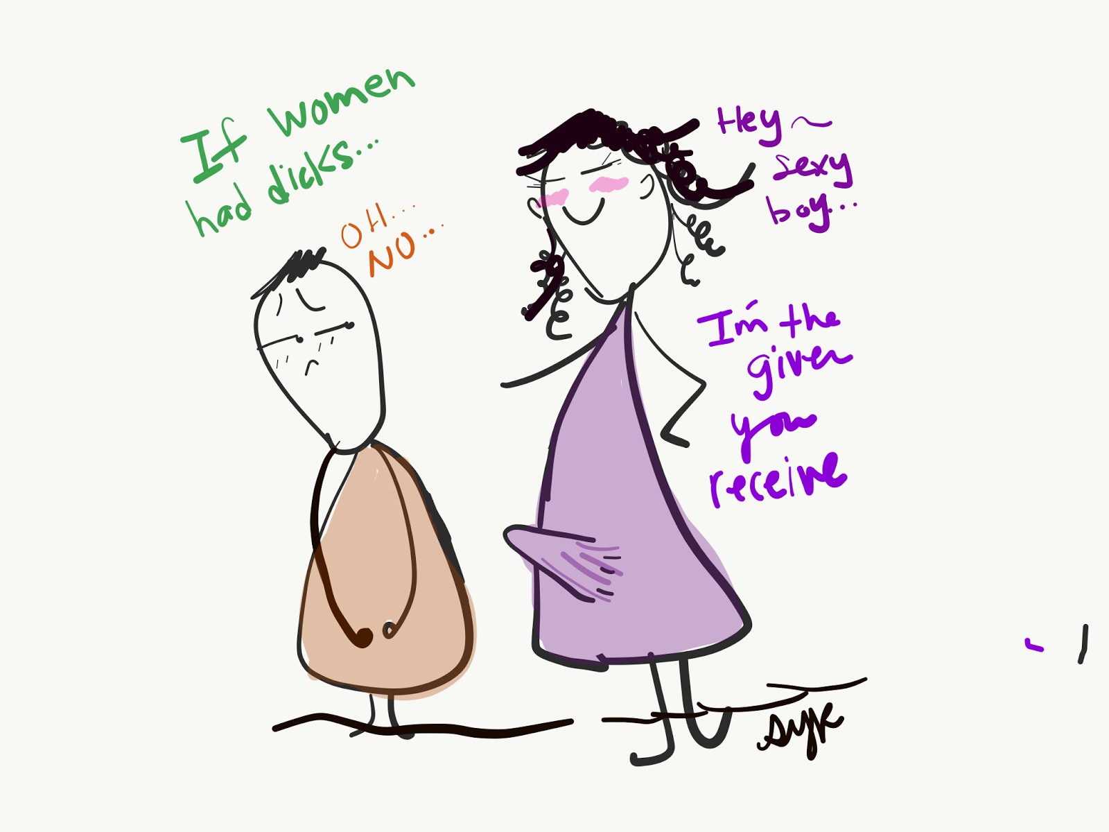 Women receiving dicks