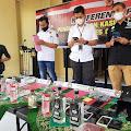 Lagi, Ratusan Botol Miras Berbagai Merk Diamankan Polisi