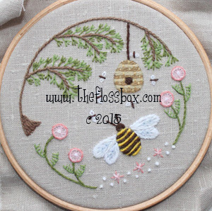 http://www.theflossbox.com/store/pattern/bees-world-crewel-embroidery