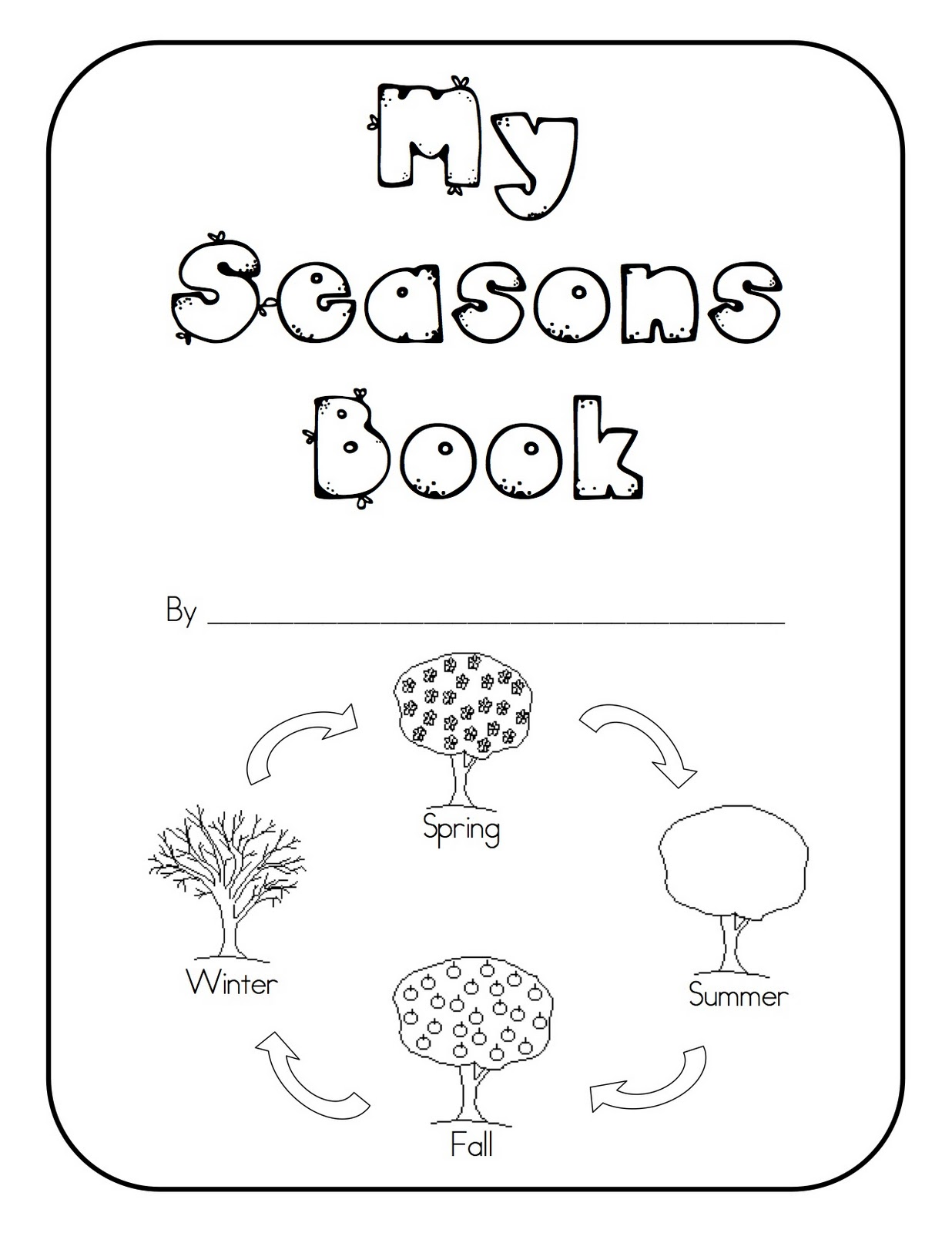 Four Seasons Tree Coloring Page Coloring Pages