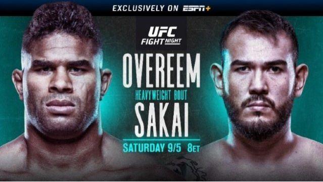 Watch UFC Fight Night Overeem vs Sakai 5 September 2020 Live Stream Online Replay