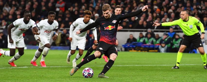 Timo Werner scores the winner from the penalty spot vs Tottenham