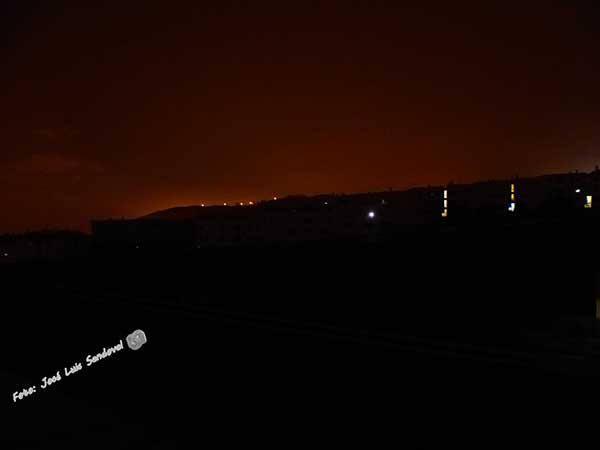 La urbanización Los Granjeros en el momento del apagón en el cono sur/ Foto: José Luis Sandoval