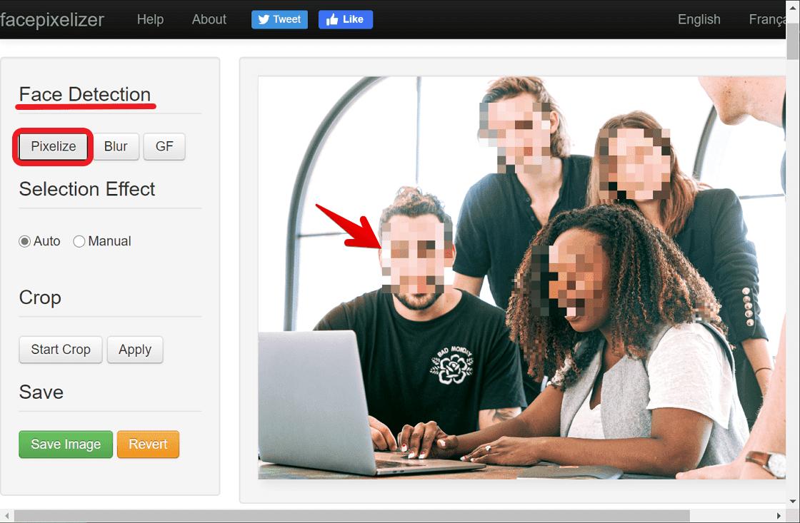 Facepixelizer 偵測人臉自動打上馬賽克