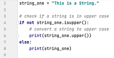 Convert a string to upper case in Python