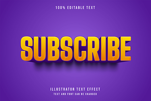 3D  Editable Text Effect Yellow Gradation Purple Comic Style
