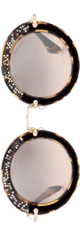MIU MIU Noir Circle Sunglasses