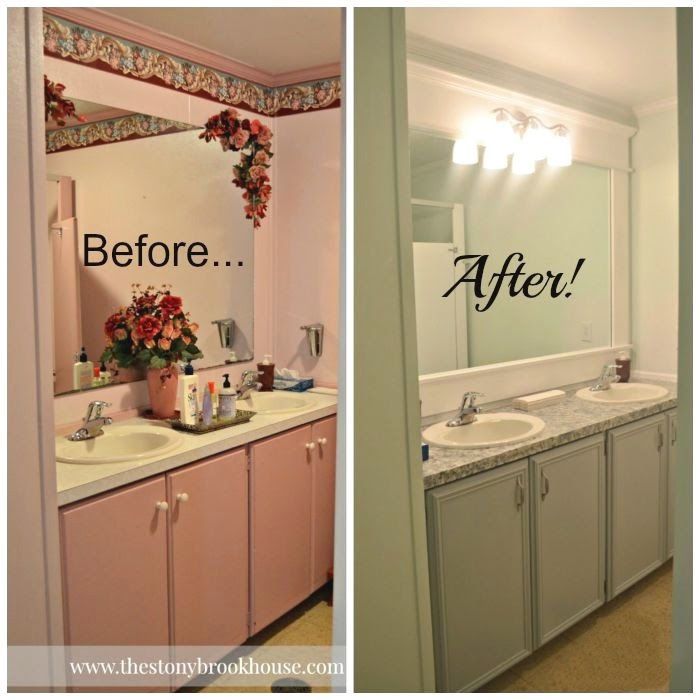 Church bathroom before and after